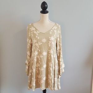Umgee Top with Bell Sleeves and Appliques